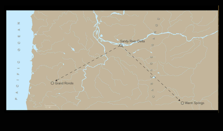 Upper Chinook Multnomah Clackamas And Wasco Confluence