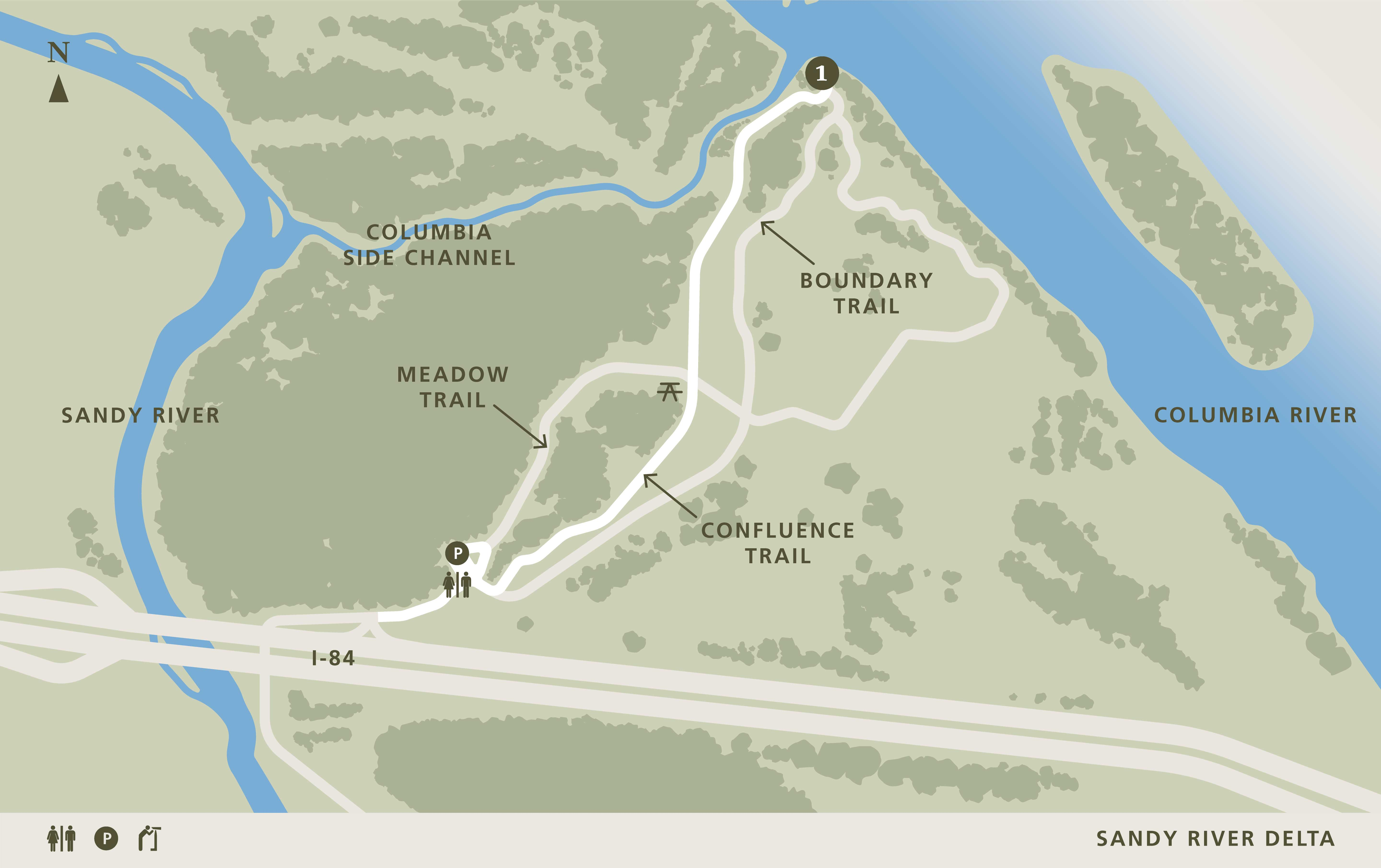 Image of: Sandy River Delta Confluence Project